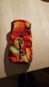 Unik håndlavet kalkpose med tomater