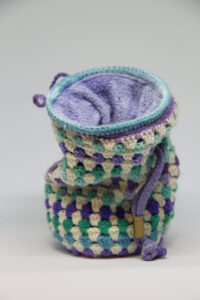 Unik håndlavet kalkpose