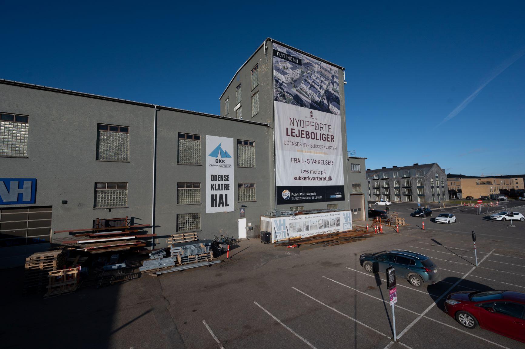 Indgangen til Odense klatreklub