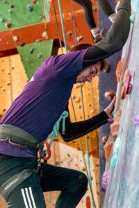 Slabvæg klatring på topreb